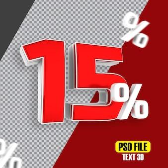 Czerwona wyprzedaż 15 procent rabatu promocyjnego