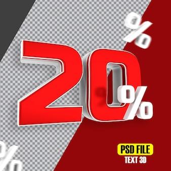Czerwona wyprzedaż 20 procent zniżki na promocje