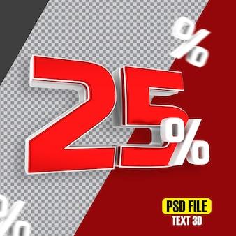 Czerwona wyprzedaż 25 procent zniżki na promocje