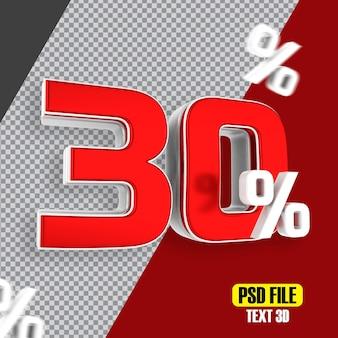 Czerwona wyprzedaż 30 procent rabatu promocyjnego