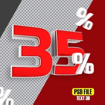 Czerwona wyprzedaż 35 procent rabatu promocyjnego