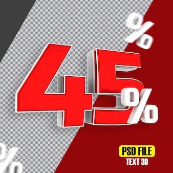 Czerwona wyprzedaż 45 procent rabatu promocyjnego