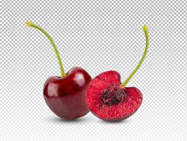 Czerwone wiśnie na białym tle