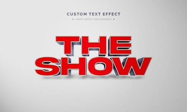 Czerwony efekt stylu tekstu 3d