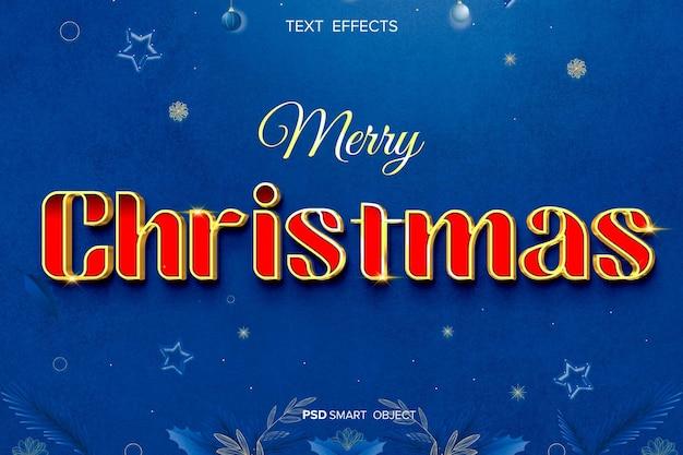 Czerwony efekt tekstu wesołych świąt
