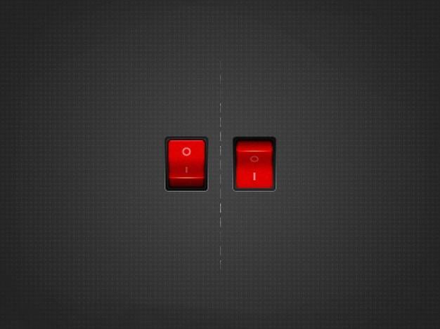Czerwony na wyłącznik