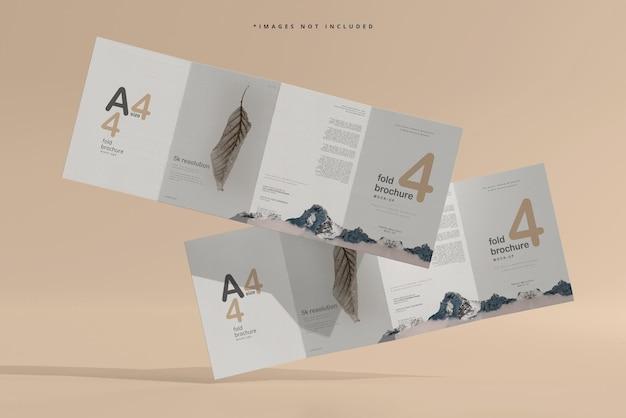 Czterokrotna makieta broszury formatu a4