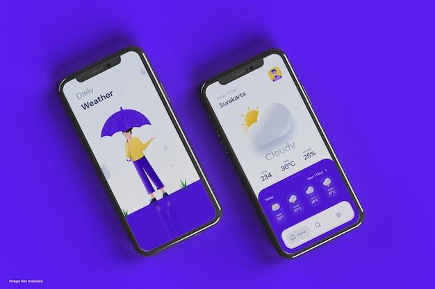 Czysta i minimalistyczna makieta telefonu komórkowego