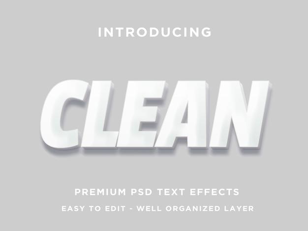 Czysty efekt tekstowy 3d