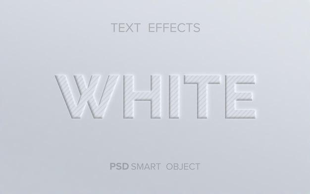 Czysty efekt wytłoczenia tekstu