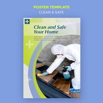 Czysty i bezpieczny motyw plakatu
