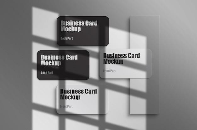 Czysty i minimalny szablon makiety wizytówki