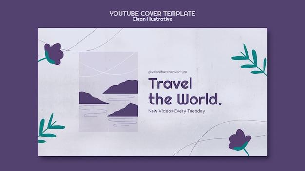 Czysty ilustracyjny szablon okładki youtube