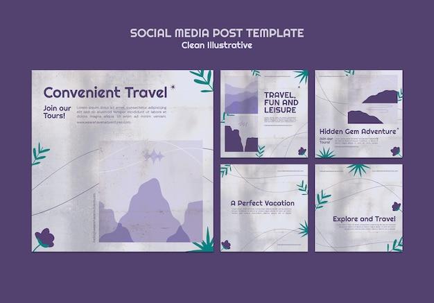 Czysty przykładowy post w mediach społecznościowych
