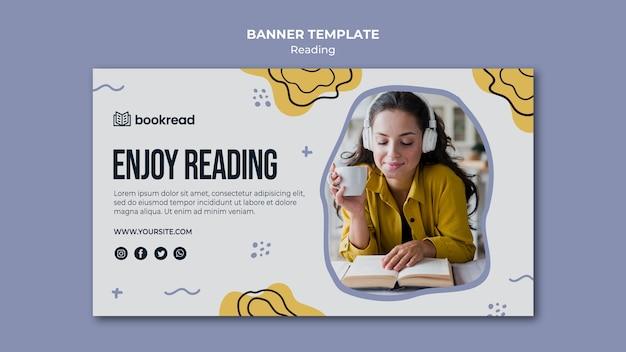 Czytanie koncepcja szablon transparent