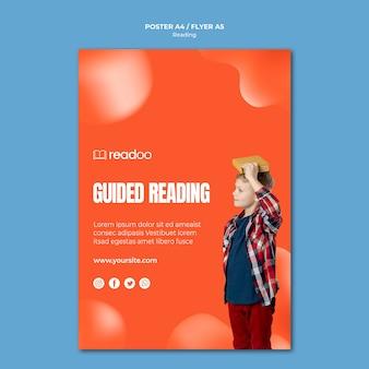 Czytanie szablonu plakat koncepcja