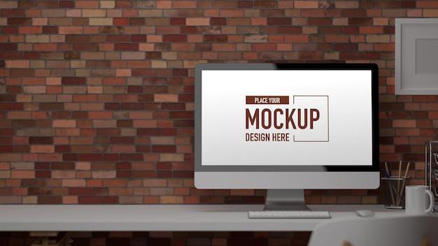 D renderowania biurko komputerowe dostarcza dekoracje