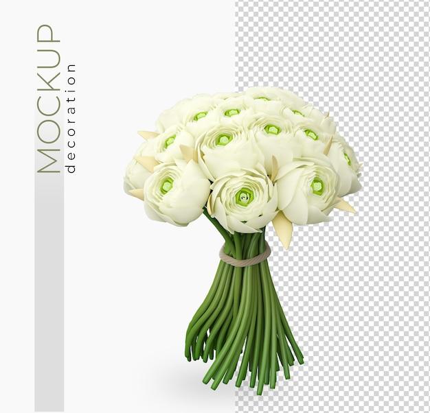 Dekoracja kwiatów kwiat w renderowaniu 3d