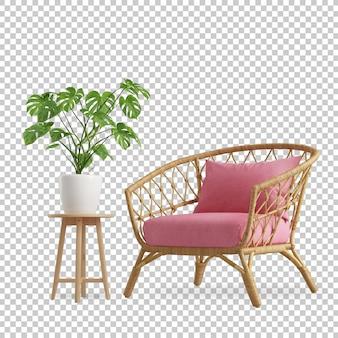 Dekoracja wnętrz w renderingu 3d