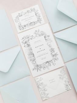 Dekoracja zaproszenia ślubne