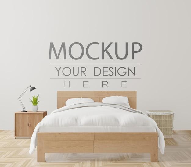 Dekoracyjne wnętrze sypialni makieta ścienna