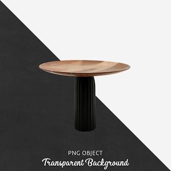Dekoracyjny drewniany talerz do serwowania na przezroczystym tle