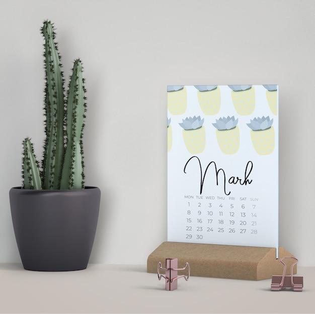 Dekoracyjny kalendarz makiety