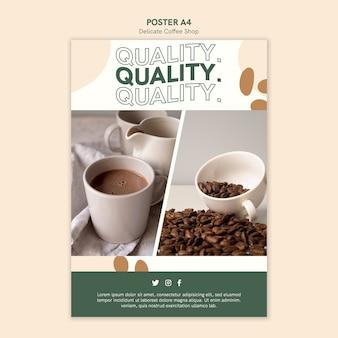 Delikatny styl plakatu kawiarni