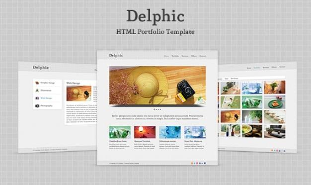 Delphic - html szablon