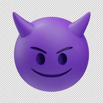 Diabeł emoji ilustracja 3d