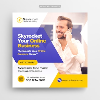 Digital business marketing media społecznościowe post banner & square flyer