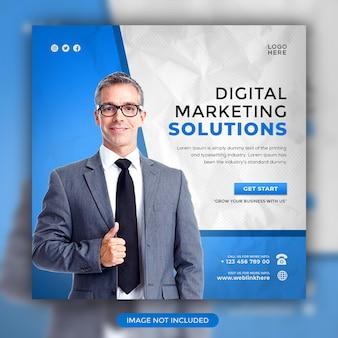 Digital marketing solutions szablon postu w mediach społecznościowych na instagramie