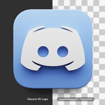 Discord apps 3d logo style w okrągłym rogu