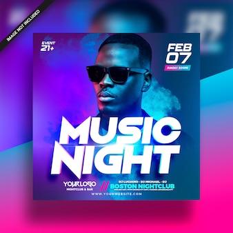 Dj music club flyer electro flyer