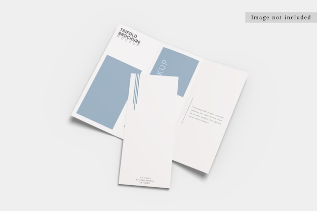 Dl trifold broszura makieta