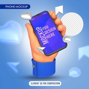 Dłoń wskazująca palcem z niebieską koszulą