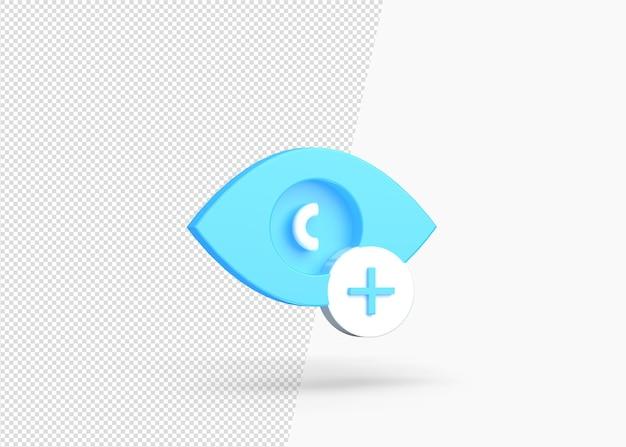 Dodaj ukryj warstwową izolowaną ikonę 3d