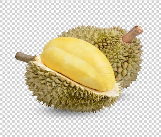 Dojrzałe owoce duriana na białym tle