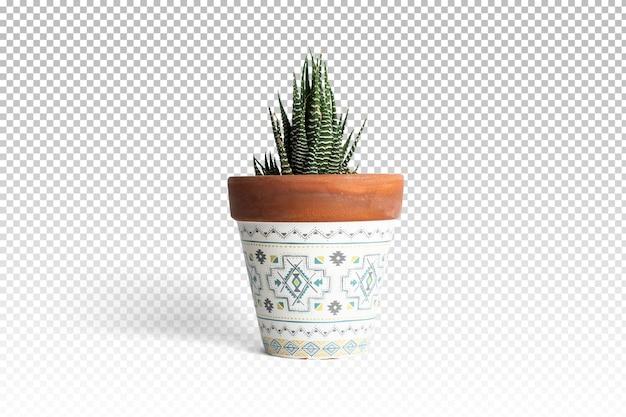 Doniczka na białym tle w renderowaniu 3d na białym tle