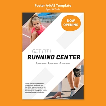 Dopasuj szablon plakatu treningu