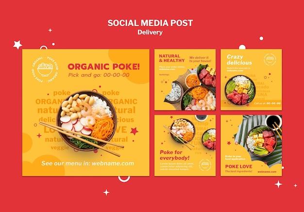 Dostarcz szablon postu w mediach społecznościowych