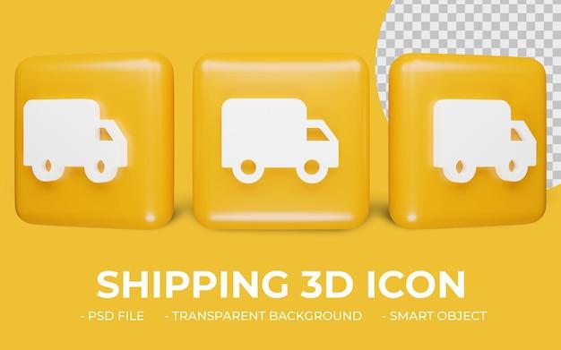 Dostawa lub wysyłka ikona renderowania 3d na białym tle