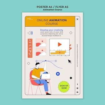 Dowiedz się szablon ulotki animacji