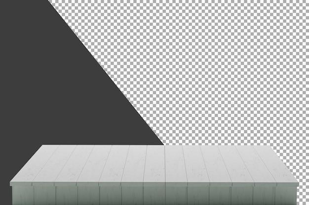 Drewniana deska renderowania 3d na białym tle