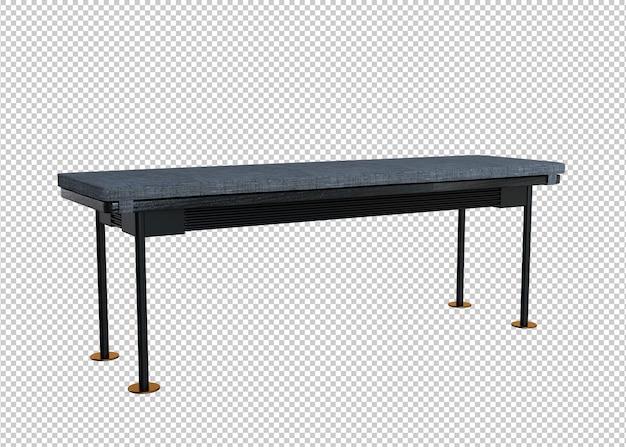 Drewniana ławka renderowania 3d