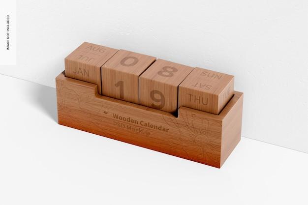Drewniana makieta kalendarza, prawy widok