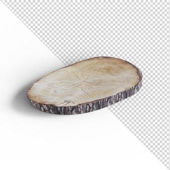 Drewniana taca na białym tle