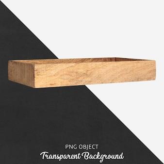 Drewniana Taca Na Przezroczystym Premium Psd