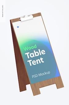 Drewniany namiot stołowy z makietą klipu, pływający