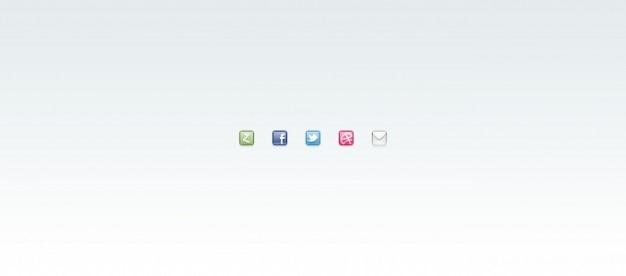 Dribbble facebook ikona poczty twitter zerply